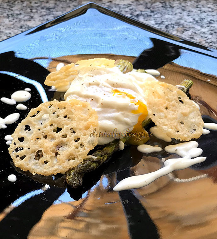 POACHED EGG, ROASTED ASPARAGUS AND PARMESAN CREAM