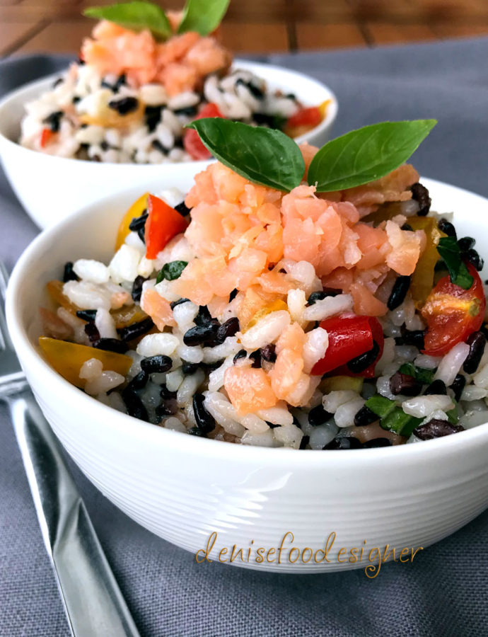 WHITE AND BLACK RICE SALAD