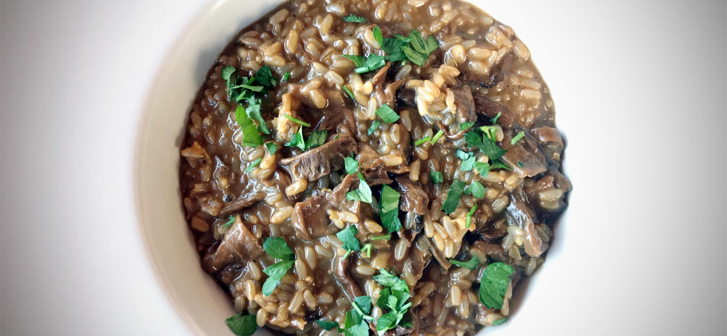 BROWN RISOTTO WITH DRIED PORCINI MUSHROOMS
