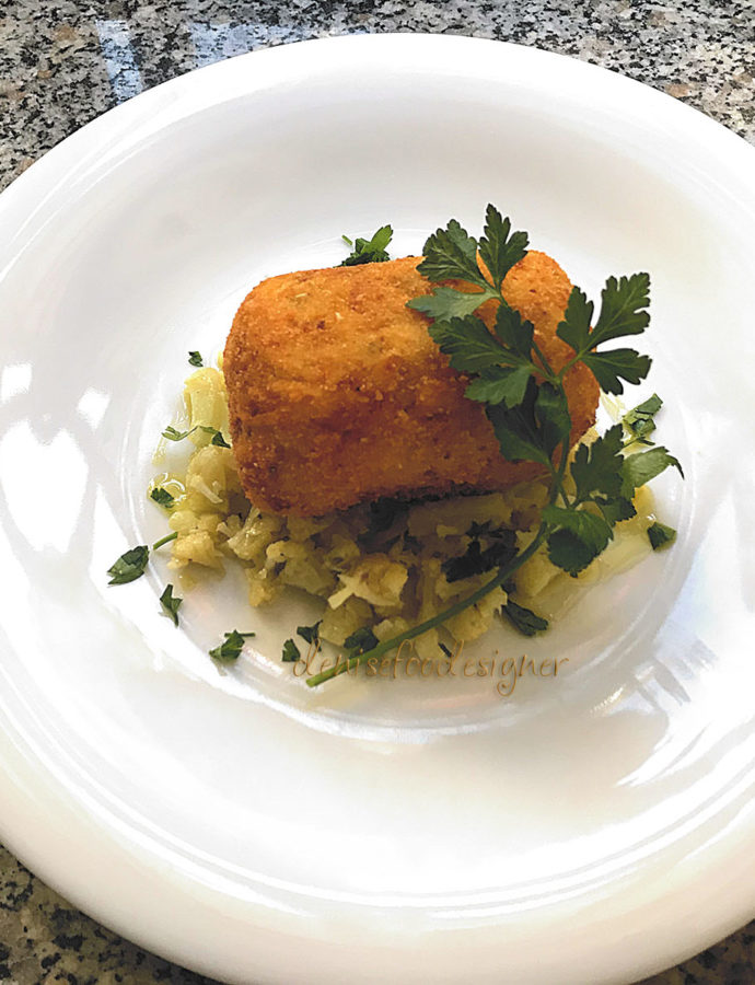 SALT COD AND POTATOES BIG CROQUETTE